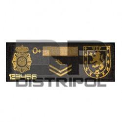 Parche chaleco UIP Policia...