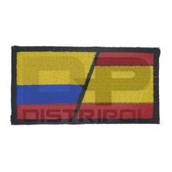 Bandera España y Colombia